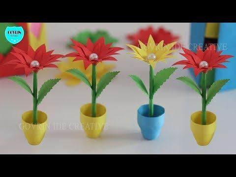 Ide Kreatif Cara Membuat Miniatur Bunga Hias Dari Kertas Origami