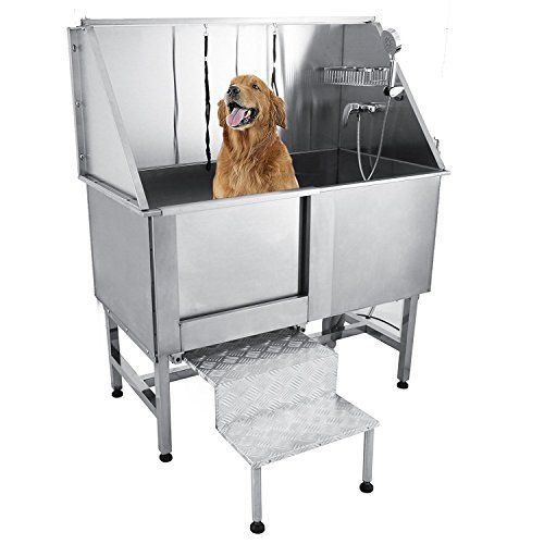 Happybuy 50 Inch Professional Pet Dog Grooming Tub With Faucet
