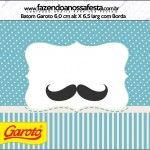 Rótulo Batom Garoto Chá de Bebê Mustache