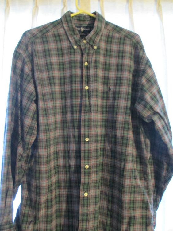 "Ralph Lauren BLAKE Men's SIZE (L) MULTI COLOR PLAID Shirt Listing in the Large (42-44"" Chest),Casual Shirts,Mens Clothing,Clothes, Shoes, Accessories Category on eBid From casualliving"