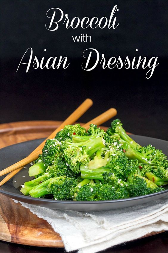 Broccoli with an Asian flavored Dressing