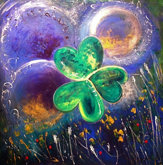 Trinity. Painted St Patrick's Day 2013. Prophetic Art | Prophetic art, Painted saint,  Art
