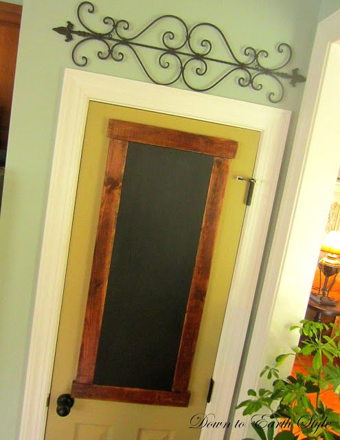 Down to Earth Style: Custom Pantry Door