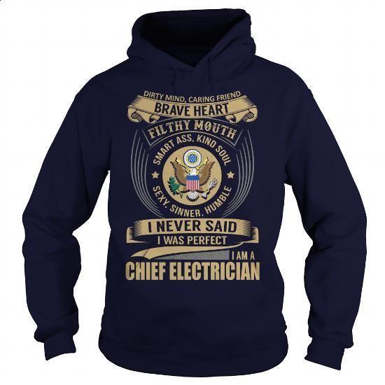 Chief Electrician - Job Title #tee #hoodie. BUY NOW => https://www.sunfrog.com/Jobs/Chief-Electrician--Job-Title-101400770-Navy-Blue-Hoodie.html?id=60505