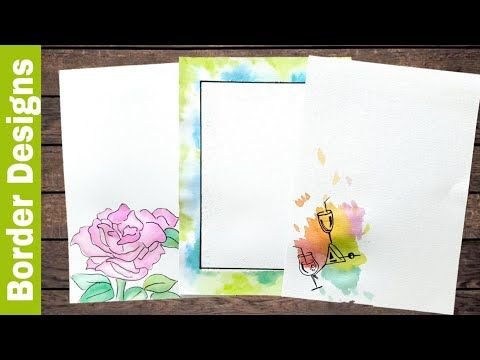 Watercolor Border Designs On Paper Border Designs Project