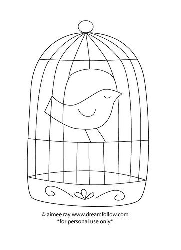 Birdcage Embroidery Patterns Vintage Embroidery Bird Embroidery
