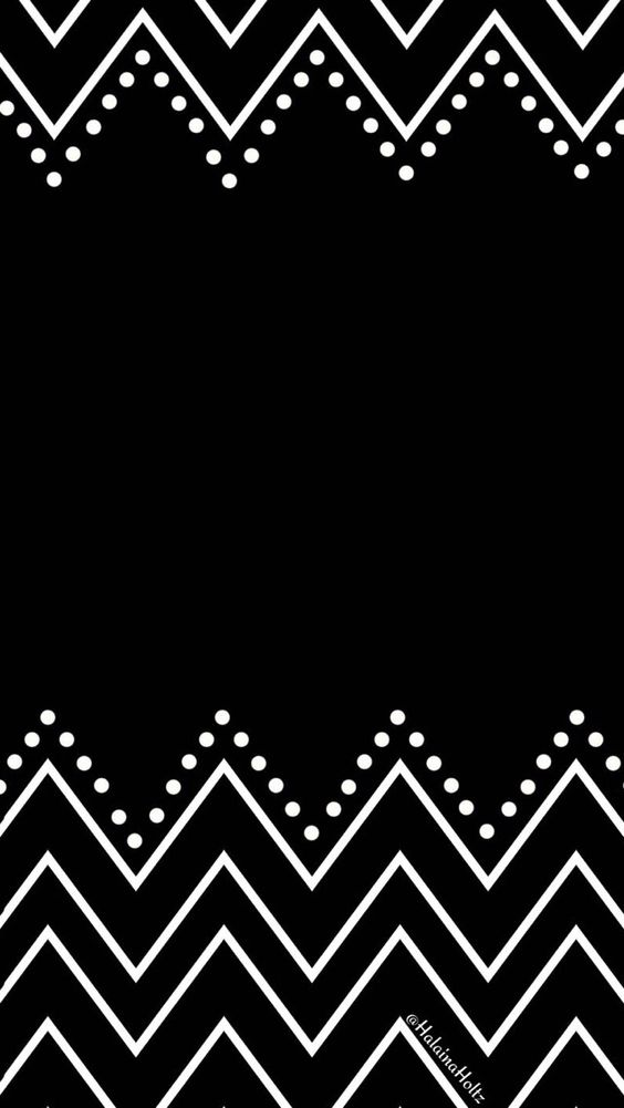 Black white chevron dots iphone wallpaper phone background