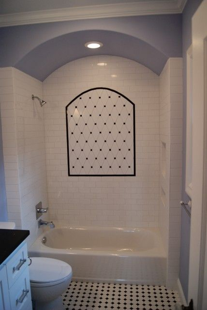 Arch over the tub bathroom arches pinterest the o for Tub over old tub
