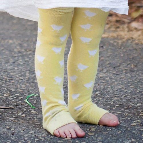 Lemon Chicks Leg Warmers.