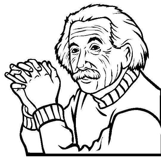 Albert Einstein That Handheld Hand Coloring Pages Photos A New