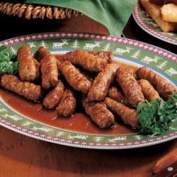 Maple-Glazed Sausages Allrecipes.com