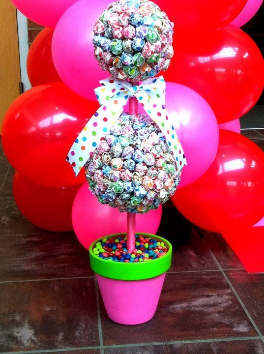 Decoration For Candyland Prom 2012 Dum Dum Topiary Use A