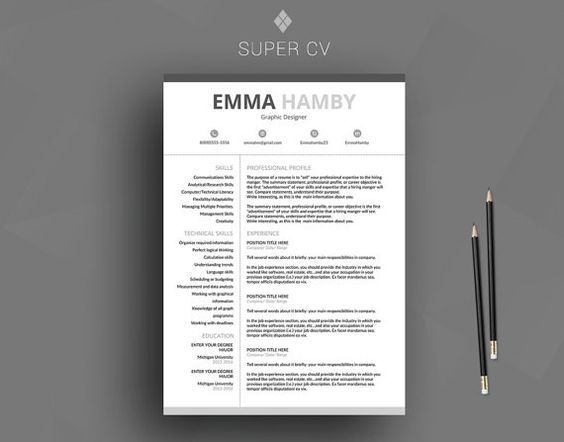 Professional Resume Template / Cv Template + Cover Letter +