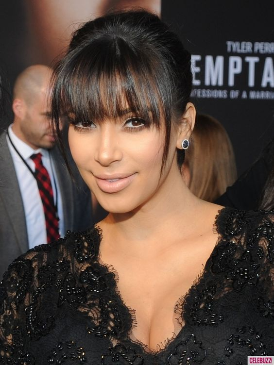 Resultado de imagen para kim kardashian bangs