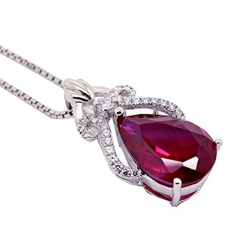 Dividiamonds 18K White Gold Plated Round Cut Cubic Zirconia 7-Stone Pendant Necklace with 18 Chain