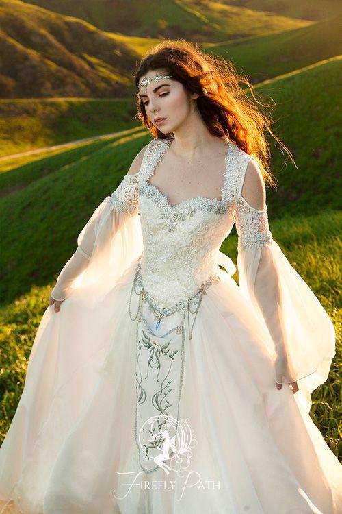 The Legend Of Zelda Inspired Wedding Dress In 2020 Medieval Wedding Dress Renaissance Wedding Dresses Fantasy Dress