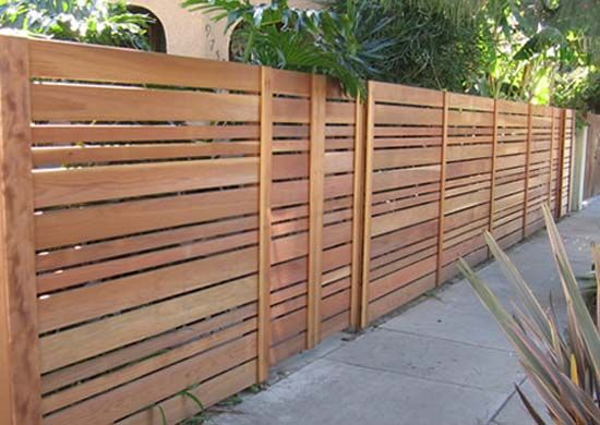 wood slats cut in different widths Garden Gate Fence