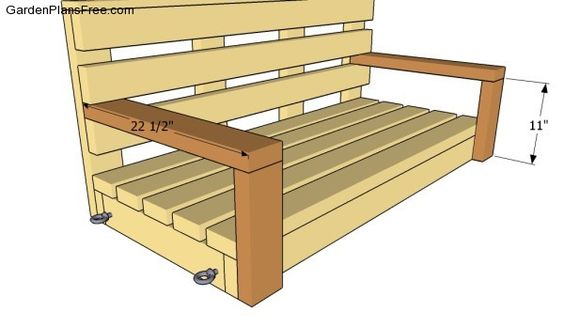 Free porch swing plans free garden plans how to build for Log swing plans