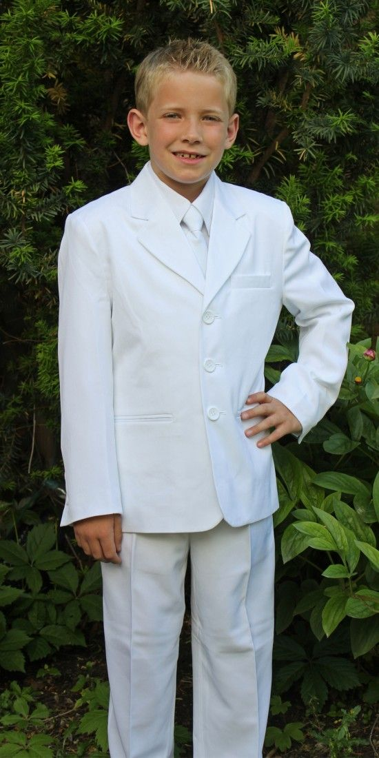 I can see my son wearing this suite after his baptism.... his grandma would be over joyed