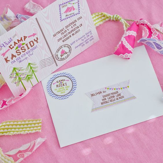 Editable Address labels and customized return Address labels for our Glam Camping printable collection and invitation!