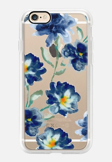 Casetify iPhone 7 Case and Other iPhone Covers - Blue Watercolor Clear Iphone case by PRINTFRESH | #Casetify