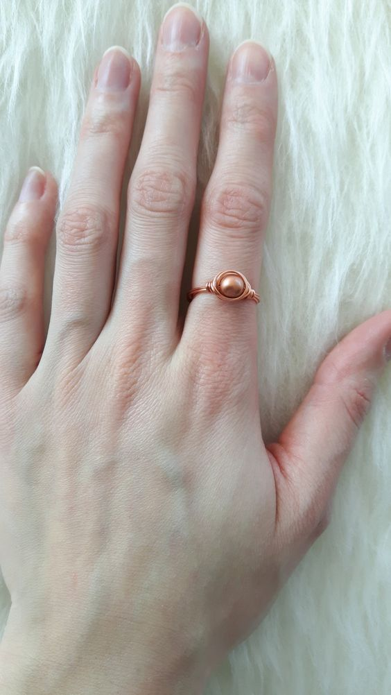 Ring Rosé gold by ForRoseDesign on Etsy