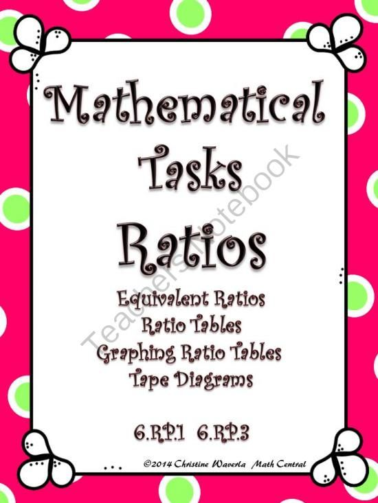 Ratios mathematical tasks equivalent ratios ratio tables tape ratios mathematical tasks equivalent ratios ratio tables tape diagrams from math central on teachersnotebook 22 pages mathematical t ccuart Images