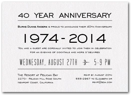 Business Anniversary Party Invitations And Announcements On