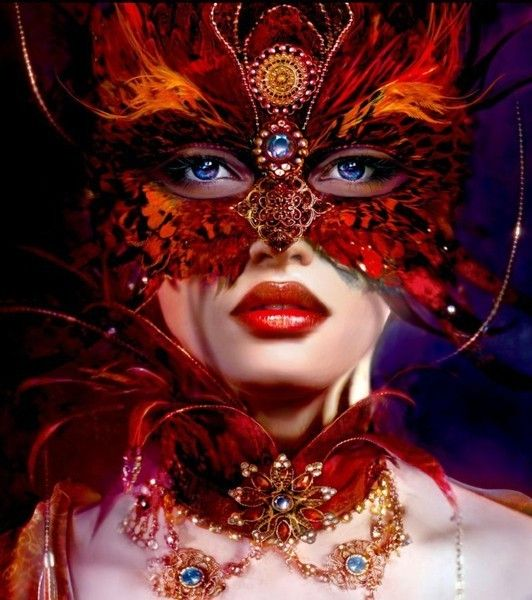 Gorgeous masquerade mask with all the trimmings...