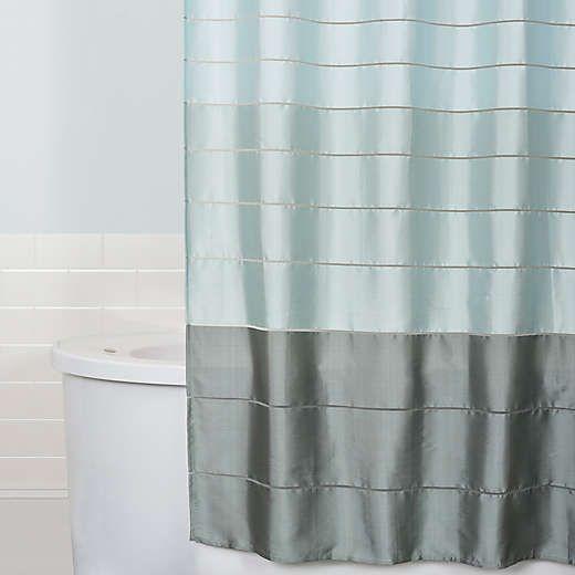 Modena Stripe Shower Curtain In Blue