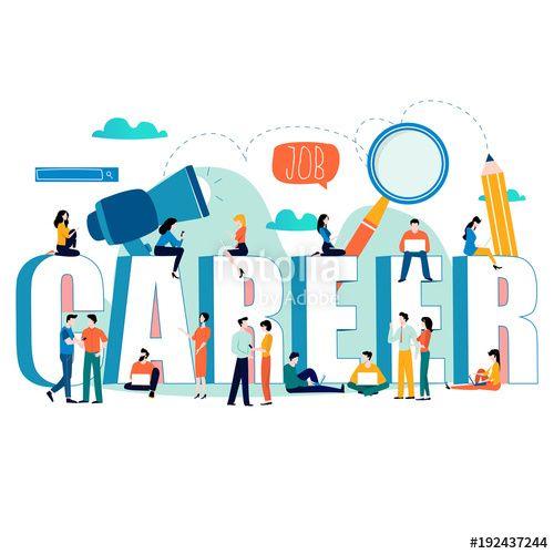 Vektor Job Search Recruitment Hiring Employment Freelance Jobs Career Concept Flat Vector I Vector Illustration Design Graphic Design Tips Web Graphics