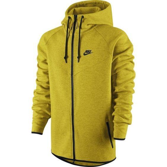 nike tech fleece hoodie mens gold