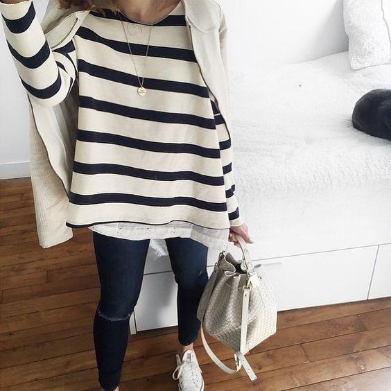 Stripes style de Audrey Lombard avec le top Ines rayé #MargauxLonnberg à…