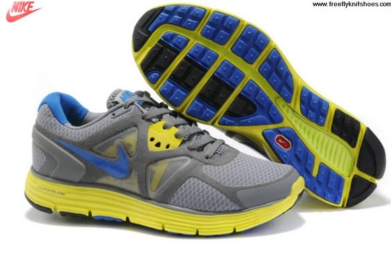 Low Price Womens Nike Lunarglide 3 Gray Yellow Blue Shoes Shoes Shop