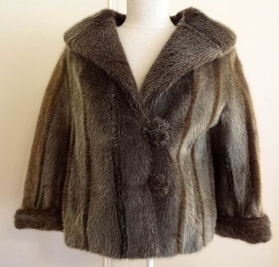 Vintage 50&39s 60&39s Genuine Seal Skin Fur Jacket Coat - Lge | Fur