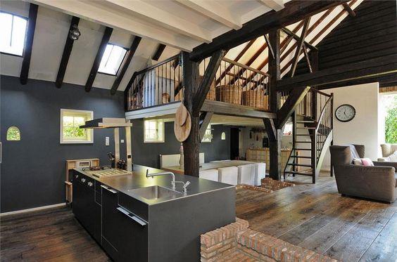 Zeeweg 1 huizen hoog plafond in deel boerderij boerderij pinterest - Hoog plafond ...