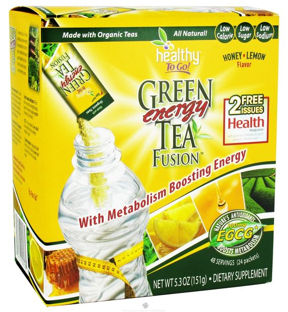 Buy To Go Brands - Healthy To Go Green Tea Energy Fusion Honey Lemon - 24 Packet(s) at LuckyVitamin.com