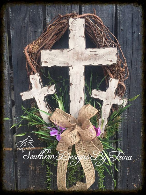 Beautiful Cross Wreath, home decor, Easter decor