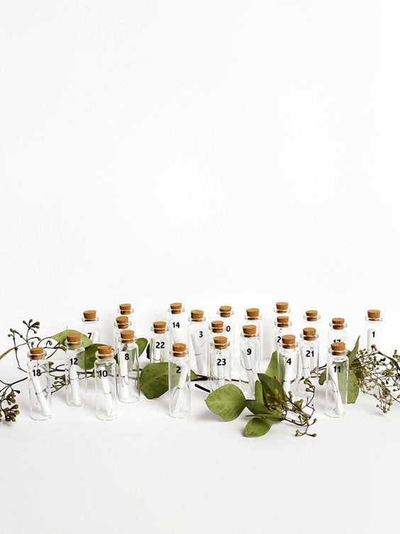 DIY Message in a Bottle Advent Calendar @themerrythought