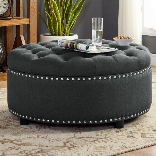 Aradale Chaise Lounge Tufted Storage Ottoman Storage Ottoman Storage Ottoman Coffee Table Living room ottoman with storage