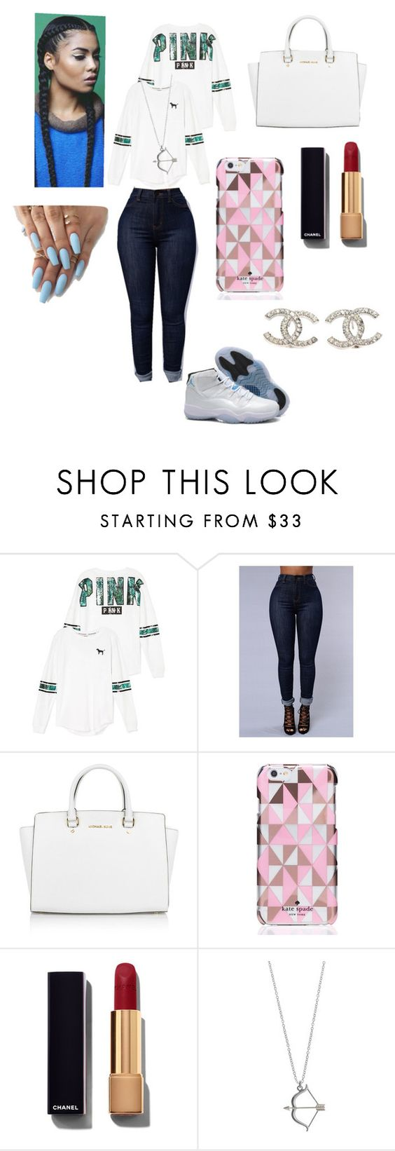 """""""Untitled #9"""" by ramyaw1519 ❤ liked on Polyvore featuring Retrò, Victoria's Secret, Michael Kors, Kate Spade, Chanel, women's clothing, women, female, woman and misses"""