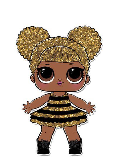 A Queen Bee ama glitter! E ama dourado e preto cintilante!