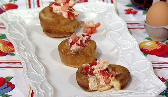 Popovers With Strawberry Honey Compound Butter