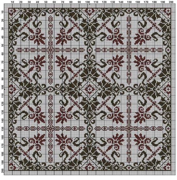 Gallery.ru / Фото #79 - Схемы для вышивки крестом - квадраты орнамент - romashkaroma
