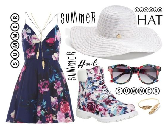 """""""Summer Hat"""" by enzorizzolo ❤ liked on Polyvore featuring AX Paris, SO, Timberland, Jennifer Lopez, Merida and summerhat"""