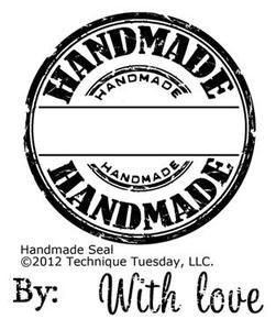 Technique Tuesday Clear Stamps, Signed, Sealed and Delivered, Handmade- RT CLICK SAVE AS- TAG-HANDMADE IN YOUR  DOWNLOAD FOLDER.- YOU CAN USE CIRCLE PUNCH TO CUT!