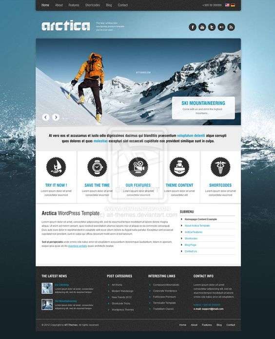 Artica Wordpress Theme by ~ait-themes #webdesign #trends