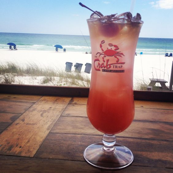Rum drink at The Crab Trap...this stuff packed a punch, they weren't kidding! I MISS DESTIN!