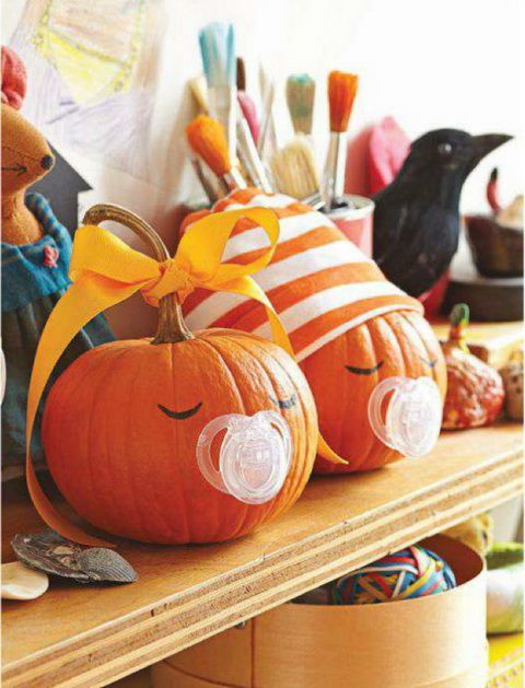 Halloween, Pacifiers and Halloween baby showers on Pinterest