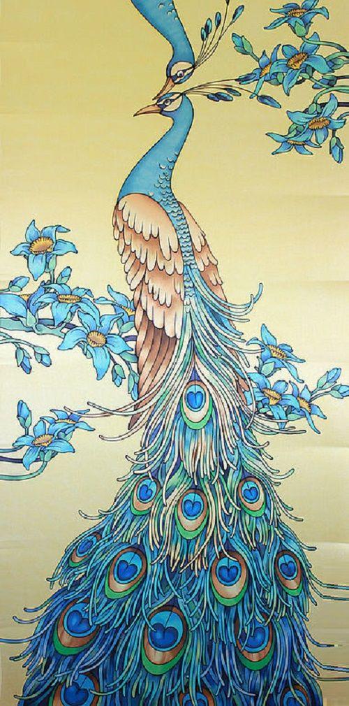 Peacocks, Peacock Artwork And Art Nouveau On Pinterest